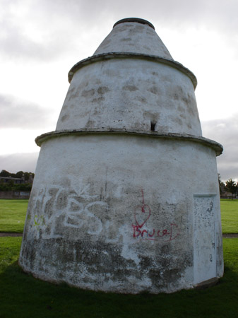 New Elgin Doocot: front of doocot after harl removed.