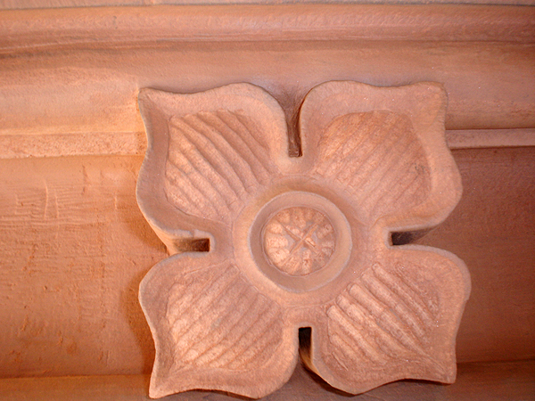 Replacement stone flower: detail.