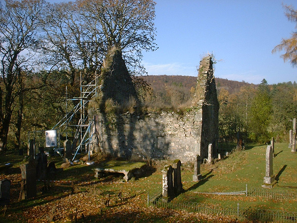 Kilmorie Chapel: a picturesque ruin.