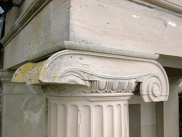 Ionic capitals: before works.