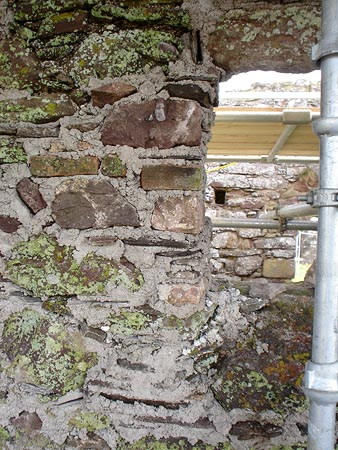 Window masonry consolidation and repair.