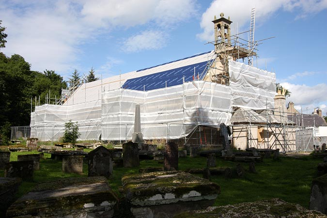 Cromarty East Church: during works.