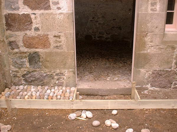 Reinstatement of cobble stones.