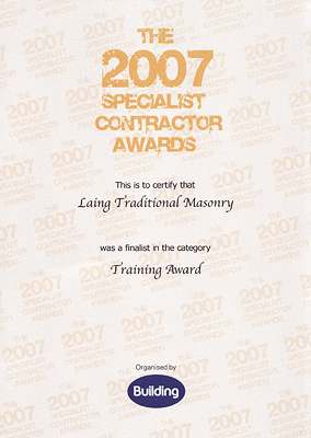 The Specialist Contractor Award, 2007 - General Training