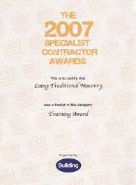 Commended - The Specialist Contractor Award, 2007 - General Training