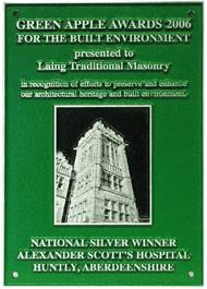 Silver - Green Apple Awards, 2006 - Alexander Scotts Hospital