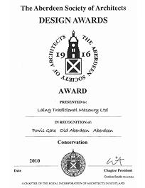 Commended - Powis Gate Towers - Aberdeen Society of Architects Design Awards 2010
