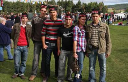 "Maltese ""Leonardo"" Students at the Lonach Highland Gathering, Strathdon."