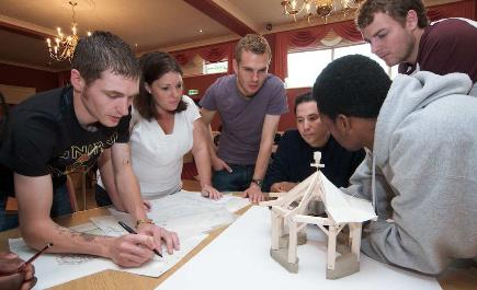 Students undertaking workshops in Ellon—Image courtesy of Richard Ivey.