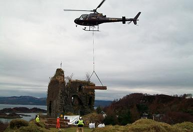 Tarbert Castle 3 year stabilisation and consolidation program.